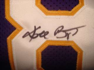 KOBE BRYANT HAND SIGNED AUTOGRAPHED LAKERS BASKETBALL JERSEY AUTO