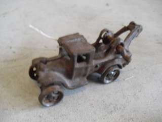 HEAVY Antique Cast Iron Wrecker Tow Truck