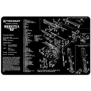 Cleaning Work Tool Bench Gun Mat For Beretta 92 & M9 Pistol Handgun