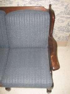 Allen Old Tavern Antique Pine Wood Framed 3 Cushion Sofa 7623