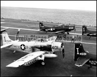 USN AD 6 Skyraider VA 42 Aboard USS Forrestal CVA 59 8x10 Aircraft