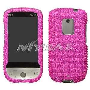 Sprint HTC Hero G3 DIAMOND BLING CASE COVER HOT PINK