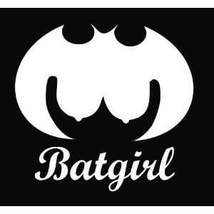 Batgirl Funny Die Cut Vinyl Decal Sticker 5 White