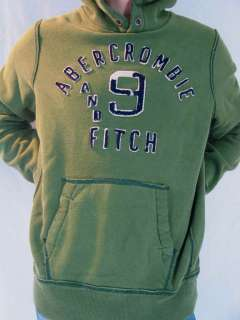 Abercrombie & Fitch New York Unisex L/S Olive Winter Wear Hoodie