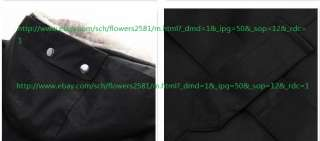 NEW Mens Cloth 2in1 Hooded Fur Winter Long Coat Outerwear Warm Black