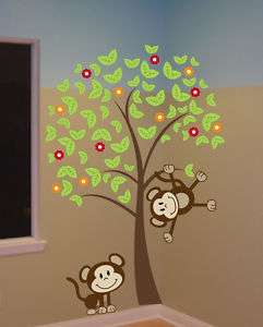 FT BIG Tree with Monkeys Wall Decal Sticker Mural