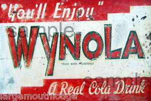 WEATHERED BUILDING SIGN DECAL WYNOLA COLA 3x2