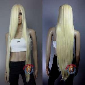 40 inch Hi_Temp Series Light Golden Blonde Long Cosplay DNA Wigs 85613