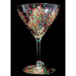 Christmas Trees Design   Hand Painted   Grande Martini