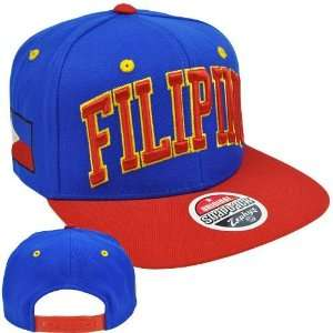 Original Zephyr Snapback Filipino Philippines Flag Blue