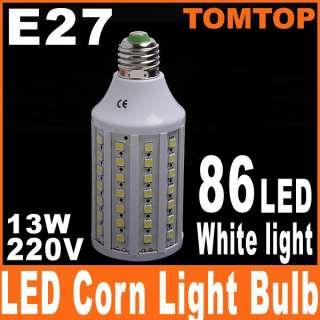 E27 13W 220V 360° 86 LED White LED SMD Corn Light Bulb Lamp