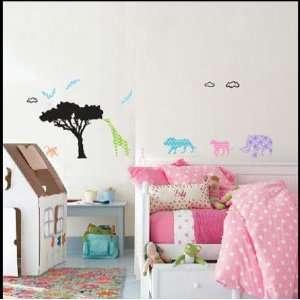 African Jungle Animal   Loft 520 Kids Nursery Home Decor Vinyl Mural