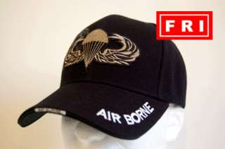 173 Airborne Paratrooper Jump Wings Military Embossed Hat Cap