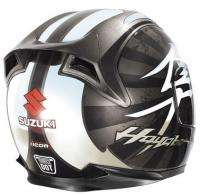 Icon Airframe Hayabusa Chrome Black Helmet Medium Md