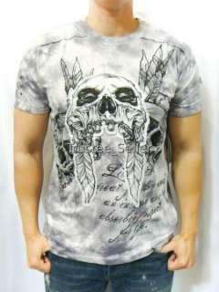 NWT REBEL SPIRIT Punk Rock Skulls Tattoo Tee T Shirt