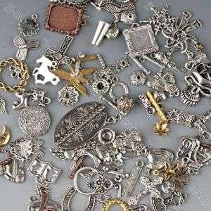 50g Mixed Tibetan Silver Tone Bronze Charm Bead Finding