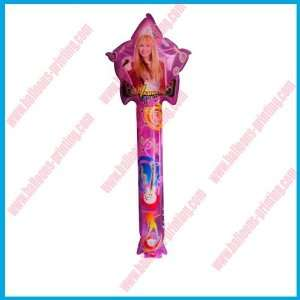star with hannah led balloon.flashing clapper stick