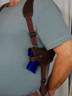 Leather Shoulder Holster w/Double Magazine for S&W 5903 5904 5905 5906