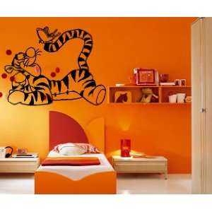 Cartoon Tigger with Butterfly Kids Room Nursery Animal
