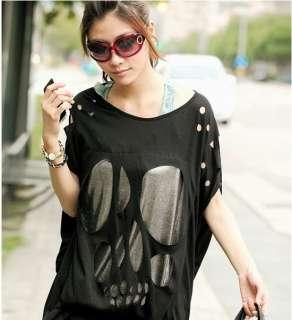 New Women Korea loose long Hollow Top T shirts CML9253