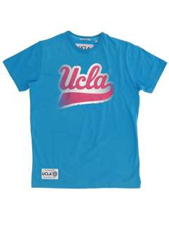 UCLA Drake College Logo Printed T Shirt   Diva Blue