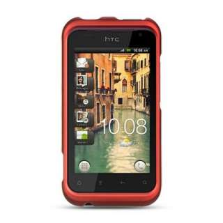 Ferrari RED Cell Phone Hard Case for Verizon HTC RHYME 6330 Rubberized