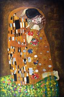 High Q Hand Painted Oil Painting Repro Gustav Klimt the Kiss 24x36