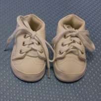 White/White Canvas Tennis Shoes 2011 Adora doll shoes