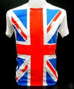 UK British Union Jack Flag 80s Punk Rock Def T Shirt XL