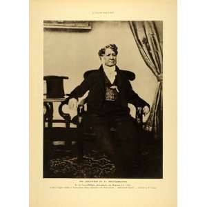 1935 King Louis Philippe France Daguerre Portrait Print