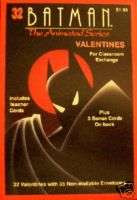 Batman Animated Series 32 Valentines Box Set w/Cards