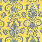 Michael Miller Whimsy Crisscross in Blue Cotton Fabric