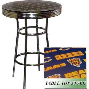 Glass Table Top & Chicago Bears NFL Football Theme