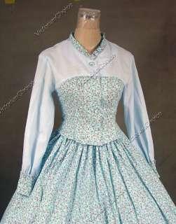 Civil War Victorian Cosplay Ball Gown Day Dress 128 M