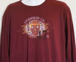 Brand New VON DUTCH Burgundy Long Sleeve Shirt Small