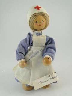 Vintage Wood Nurse Nursing Doll Rosi Prosel German Doctor Old 7.25