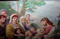 BLESSING LITTLE CHILDREN GREAT VINTAGE PUZZLE JESUS GOD