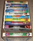 VHS Tapes   Snow White Mulan Bambi Toy Story Pinocchio Bugs Life