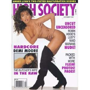 OCTOBER 1991 JULIA PARTON, DEMI MOORE): HIGH SOCIETY MAGAZINE: Books