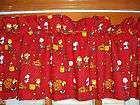 lined VALANCE with PEANUTS snoopy CHARLIE BROWN woodstock SALLY