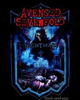 AVENGED SEVENFOLD A7X Nightmare metal rock rare T Shirt S NWT