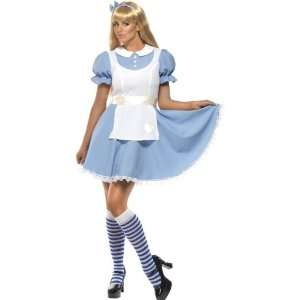 White Alice In Wonderland Fancy Dress Costume Size M Toys & Games