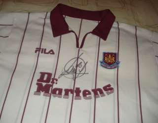 PAOLO DI CANIO HAND SIGNED WEST HAM UNITED AWAY SHIRT