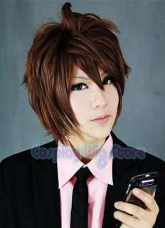 Anime Cosplay Wig Short Auburn Brown Layered Wig A245