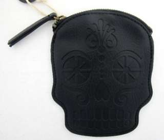 Wallet Coin Bag Day of the Dead Skull Faux Leather Purse NEW