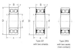 5205 2RS Double Row Sealed Bearing 25 x 52 x 20.6 mm