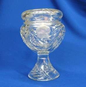 BEAUTIFUL ABP CUT GLASS LIDDED PEDESTAL URN