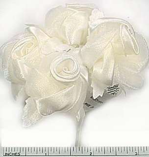48 Ivory Satin Roses Bridal Sprays Wedding Decorations