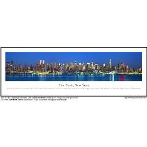 New York City Night Shot 13.5x40 Panoramic Photo Sports
