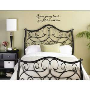 FILLED IT WITH LOVE Vinyl wall quotes and sayings home art decor decal